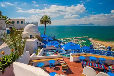 Kota Sidi Bou Said di Tunisia