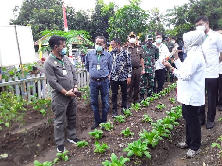 Kasdam Hasanuddin Dampingi Mentan Tinjau Pekarangan Pangan Lestari Warga Gowa