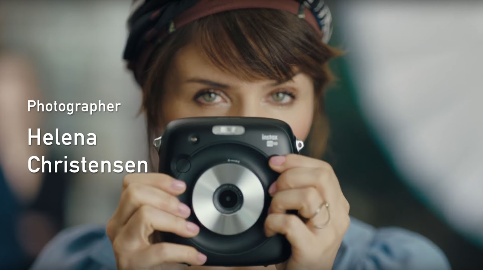 PHOTOGRAPHER HELENA CHRISTENSEN AND FUJI SQ10