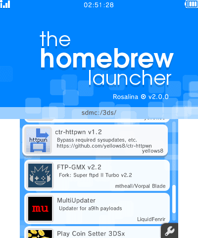 The Homebrew Launcher (new-hbmenu) v2 1 0 Released