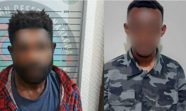 Polisi Tangkap 2 Pelaku Pengedar Ganja di Kota Jayapura
