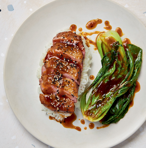 Pan-seared Duck Breast with Pak Choi and Orange Sauce