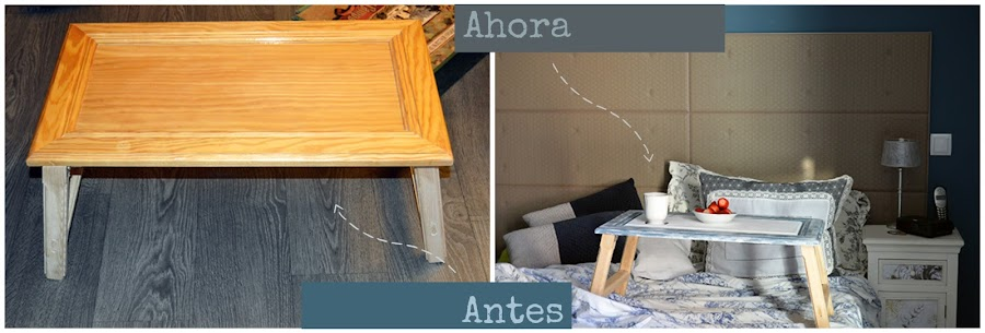Antes y después mesa madera