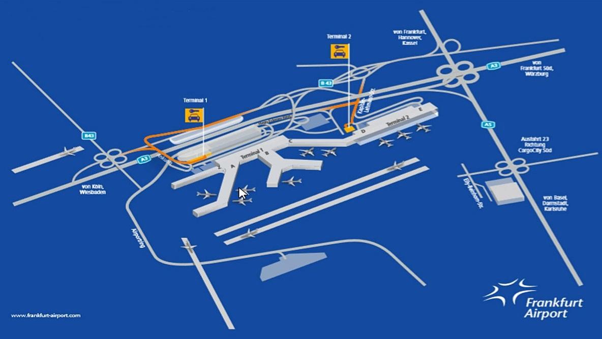 프랑크푸르트공항 맵
