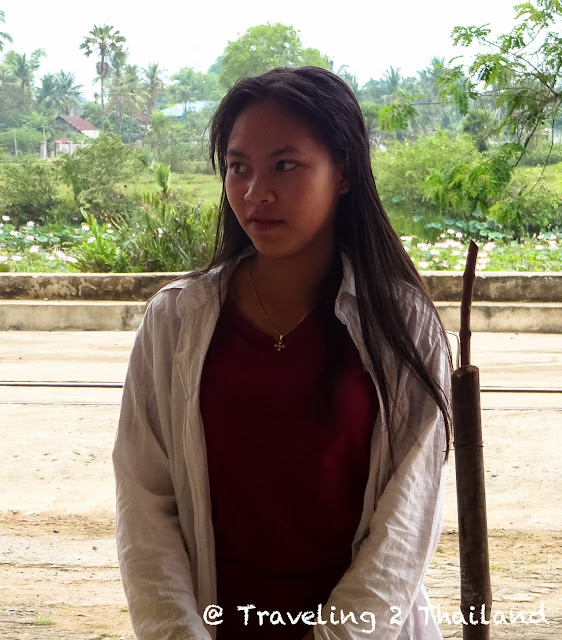 Cambodian girl in Kampot