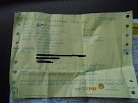 Assyik.. Resi Penerimaan Uang dari Wetern Union Bisa Ditukar Uang RP. 50.000