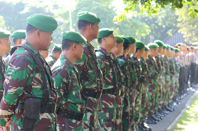 KodimKaranganyar – Apel Gelar Pasukan Kesiapan Pengamanan Pilkades Serentak Gelombang III Kabupaten Karanganyar