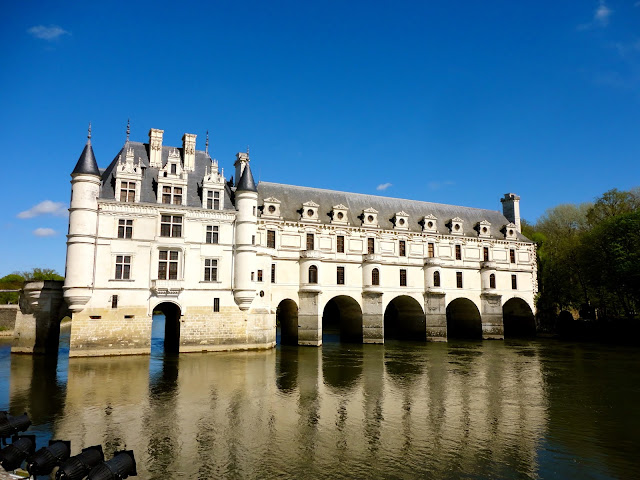 Chenonceau Château, crossing the Cher river, in the Loire Valley, France