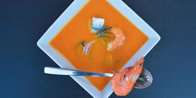 Средиземноморский суп из морепродуктов