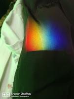 Rainbow on burgandy