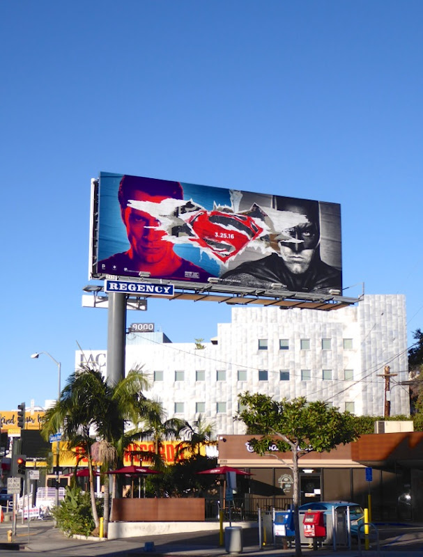 Batman v Superman teaser billboard