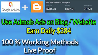 How to show Google admob ads on your blog/website