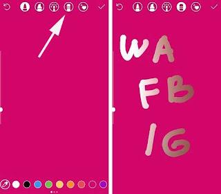 Cara Membuat Snapgram Text Kedap Kedip