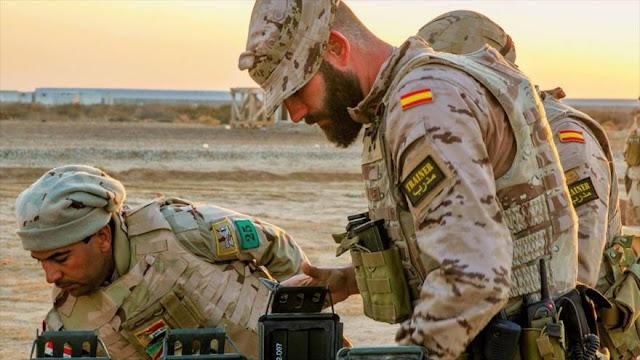 España traslada decena de sus militares de Irak a Kuwait