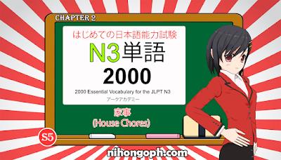 N3 Vocabulary 家事 (House Chores)