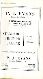 P J Evans (Sutton Coldfield) Ltd Advert