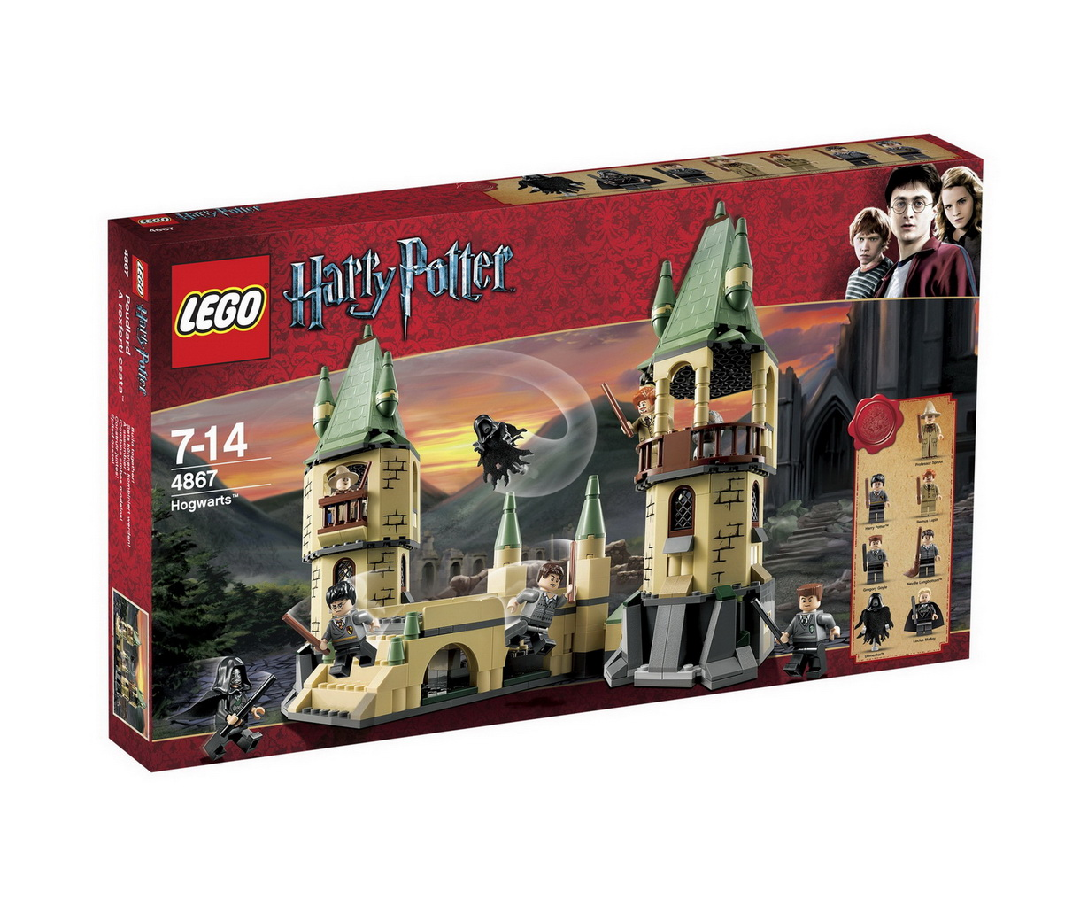 Onetwobrick33 Lego Set Database 4867 Hogwarts Big Bentley Bust Out 8639