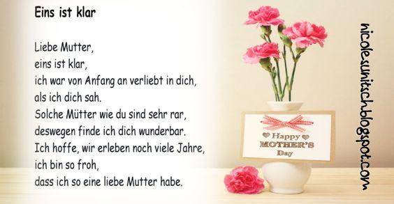 Gedichte Von Nicole Sunitsch Autorin Eins Ist Klar Muttertag