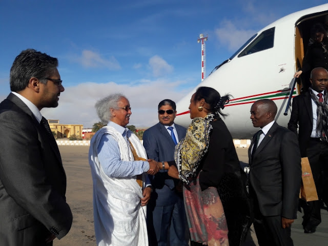 وزير المياه و البيئة يمثل رئيس الجمهورية في حضور حفل تنصيب الرئيس الكيني