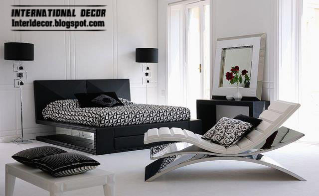 Modern Bedroom Decoration Design In Black And White Colors
