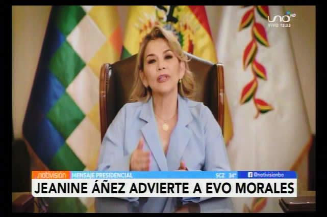 Jeanine Áñez garantiza que Evo Morales sólo va a volver a Bolivia para dar explicaciones a la justicia