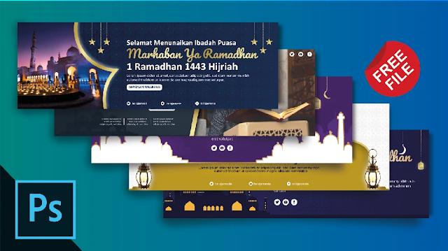 Free Banner PSD : Download Spanduk Ramadhan Photoshop Gratis