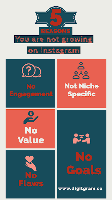 Top 5 reasons you are not growting on Instagram