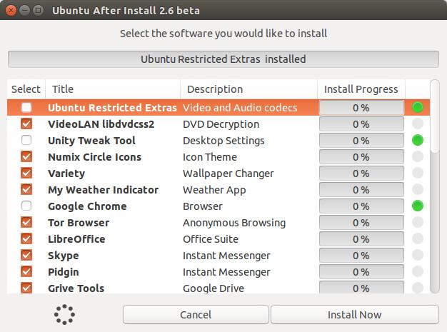 Ubuntu After install - Một cú nhấn chuột cài tất cả ứng dụng trong Ubuntu