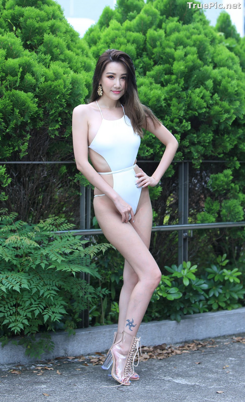 Image Taiwanese Beautiful Model - Suki - White Sexy Bikini Girl - TruePic.net - Picture-1