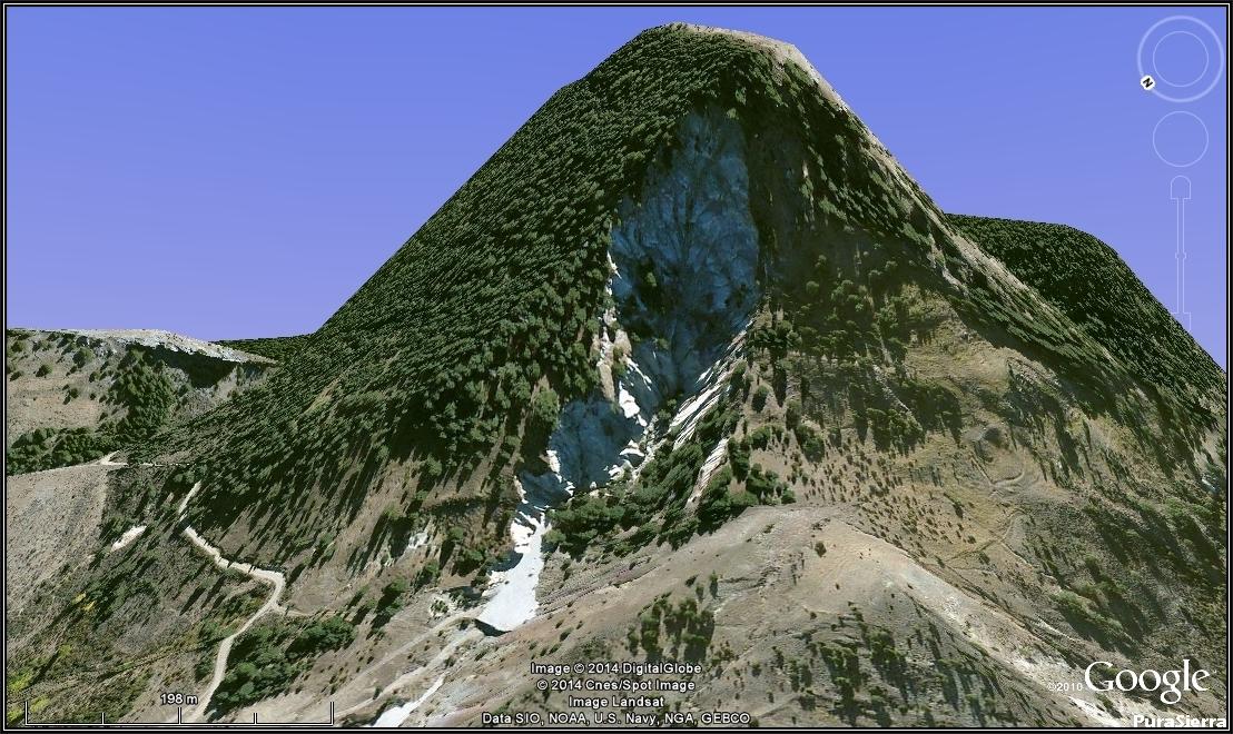 Instantánea de Google Earth de Las Terreras De La Virgen