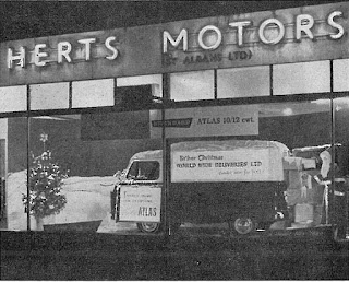 Herts Motors (St. Albans) Ltd Xmas 1959 window display