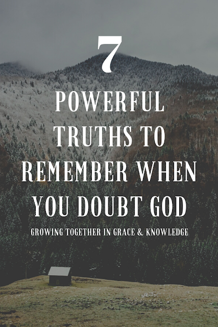 Encouragement from God's Word on why there is no need to doubt God.
