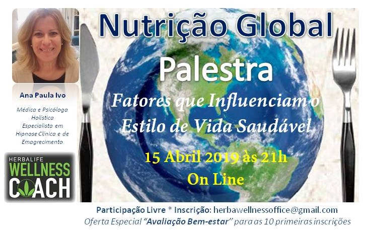 15 Abril - Palestra Nutrição Global On Line