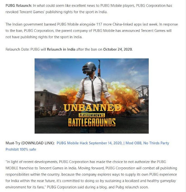 Will PUBG Relaunch in India after the ban?