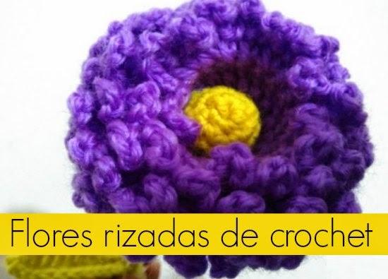 flores,rizadas, crochet, patron