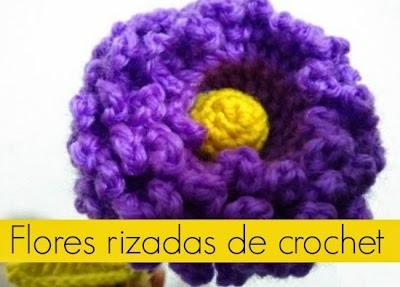Flores rizadas de crochet patron