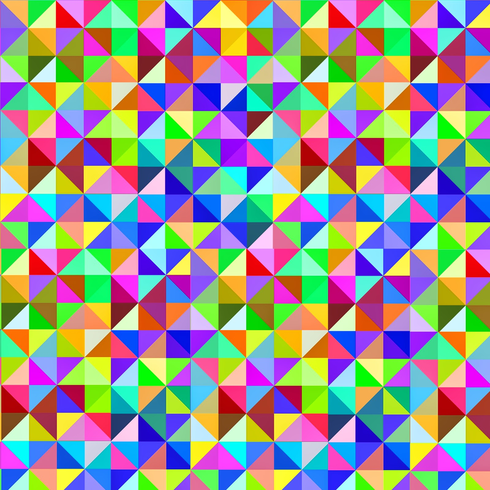 Gigantic Geometric Colorful Triangle FREEBIES Printables!