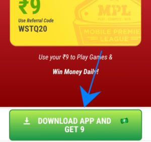 EARN PAYTM CASH WHILE PLAYING GAME 2018-MPL ( MOBILE PREMIER LEAGUE )