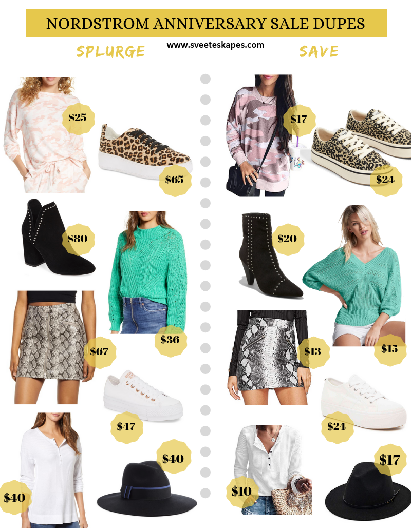 best Nordstrom Anniversary Sale Dupes featured by top US fashion blog, Sveeteskapes