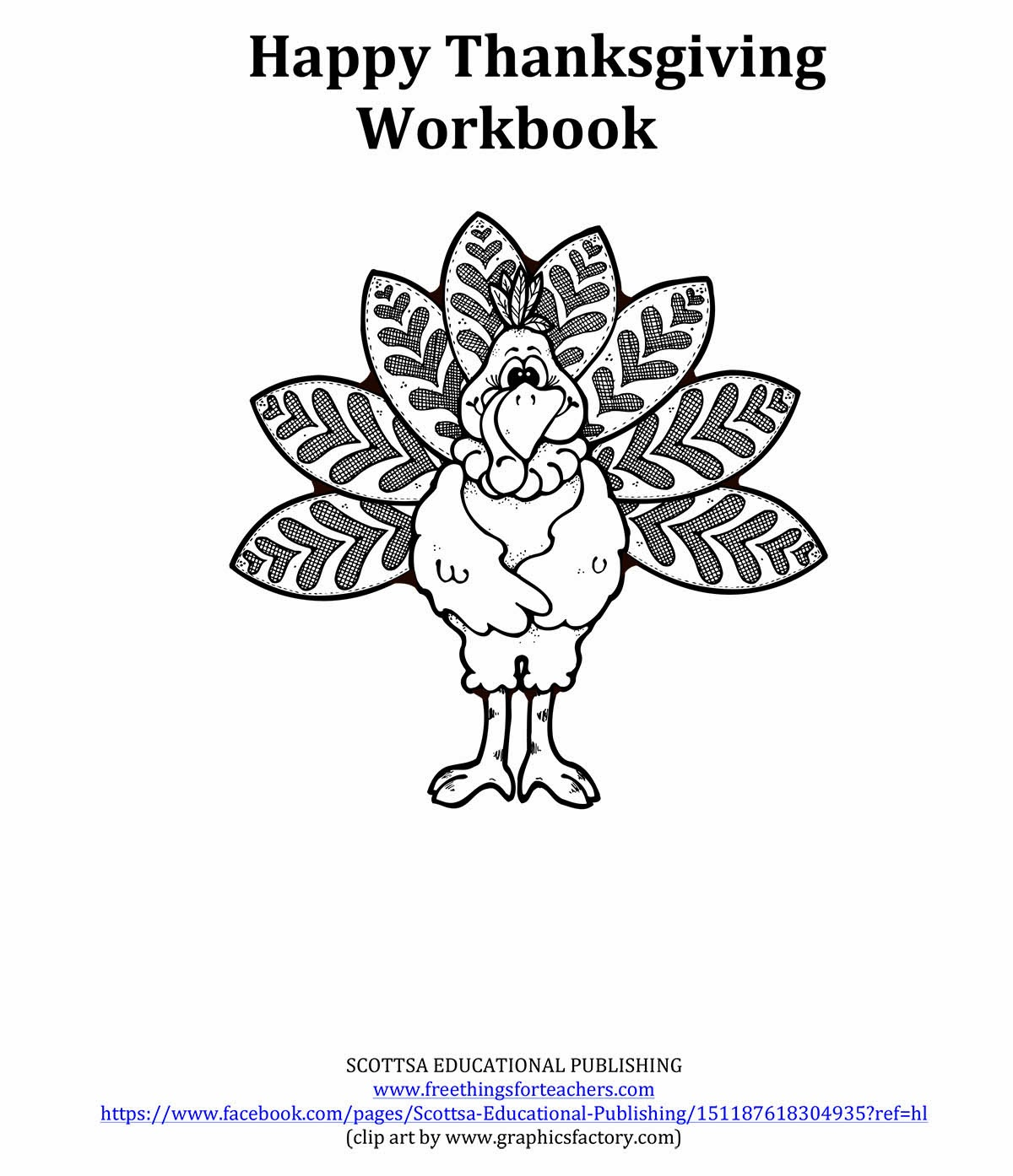 Free Things For Teachers: HAPPY THANKSGIVING WORKBOOK: The