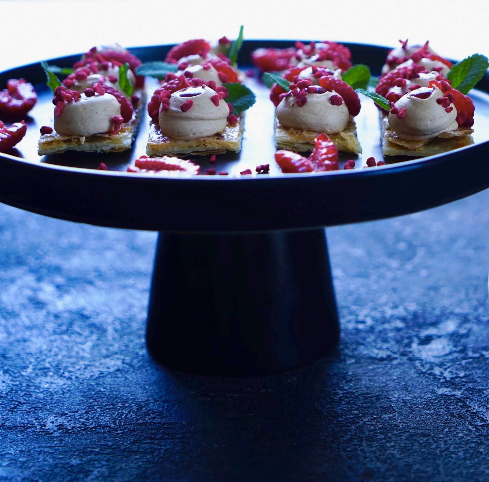 dessert de St Valentin , ganache montée au praliné
