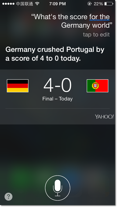 Tell me Germany Team score