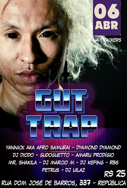 Yannick aka Afro Samurai na Trackers na primeira edição da GUT TRAP