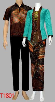 Baju Batik Couple Kombinasi Embos