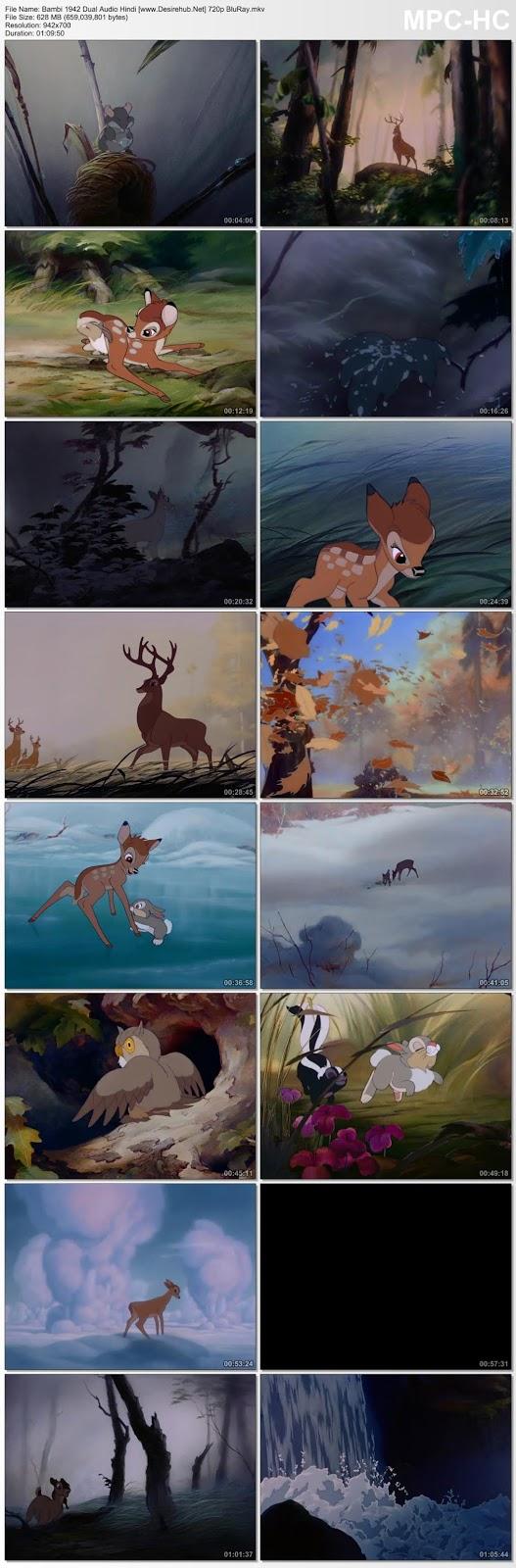 Bambi 1942 Dual Audio Hindi 720p BluRay 600MB Desirehub