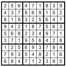 Answer Key Sudoku #39 Brain Training with Cats ©BionicBasil®