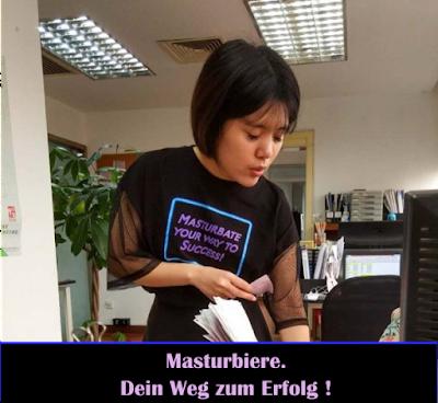 Lustiges Spruch Bild- Masturbieren auf Arbeit