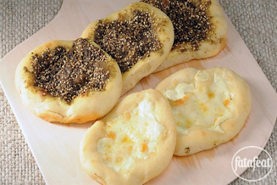 Manakish zaatar and jibneh