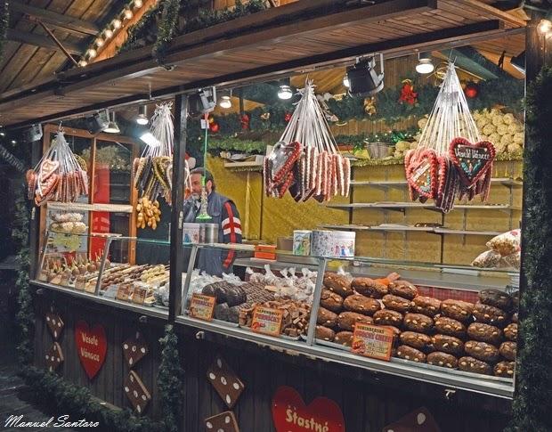 Praga, Mercatini di Natale. Stand gastronomici