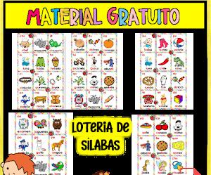LOTERÍA DE SÍLABAS PDF